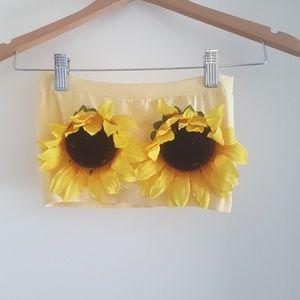 Summer festival sunflower tube top